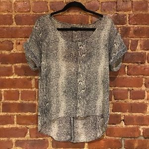 LUCCA COUTURE SNAKESKIN BLOUSE